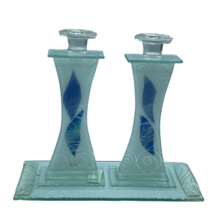 PAIRE BOUGEOIRS DESIGN VERRE